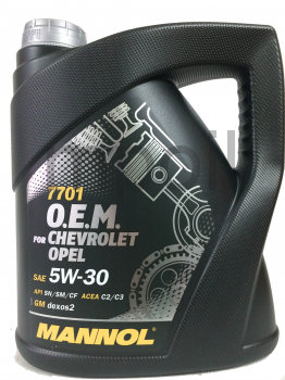 Масло MANNOL 7701 O.E.M. for Chevrolet Opel  5w30 4л