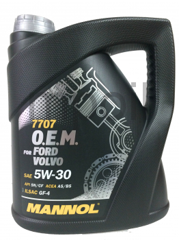 Масло MANNOL 7707 O.E.M. for Ford Volvo 5w30 4л